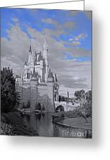 Walt Disney World - Cinderella Castle Greeting Card by AK Photography