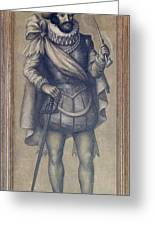 Walter Raleigh, English Explorer Greeting Card by Photo Researchers