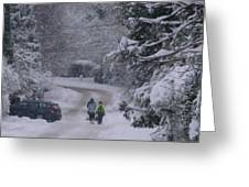 Wanderers In White Greeting Card by Rdr Creative