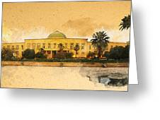 War in Iraq Sadaam's Palace Greeting Card by Jeff Steed