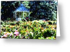 War Memorial Rose Garden 1  Greeting Card by Angelina Vick