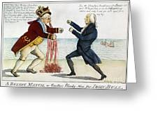 WAR OF 1812: CARTOON, 1813 Greeting Card by Granger