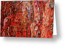 Warm Meets Cool - Abstract Art Greeting Card by Carol Groenen