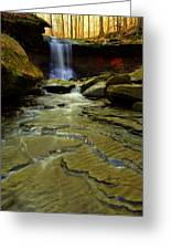 Warm Sky Cool Water Greeting Card by Frozen in Time Fine Art Photography