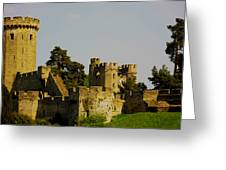 Warwick Castle Greeting Card by Ian Flear