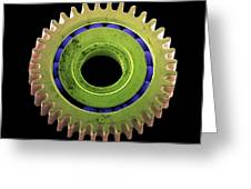 Watch Cog, Sem Greeting Card by Steve Gschmeissner