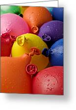 Water Balloons Greeting Card by Garry Gay