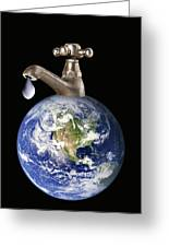 Water Conservation, Conceptual Image Greeting Card by Victor De Schwanberg