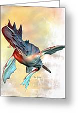 Water Dragon Greeting Card by Bob Orsillo