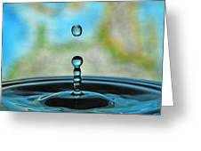 Water Drop 2 Greeting Card by Donna Caplinger