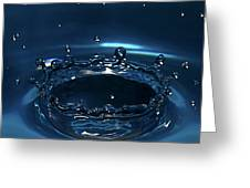 Water Drop Impact Greeting Card by Linda Wright