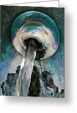 Water Flow Greeting Card by Bill Morgenstern