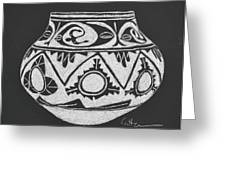 Water Jug - San Ildefonso Circa 1900 Greeting Card by Diane Cutter