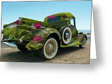 Water Lily Truck Greeting Card by Carolyn Dalessandro