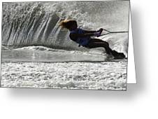 Water Skiing Magic Of Water 12 Greeting Card by Bob Christopher