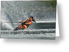 Water Skiing Magic Of Water 15 Greeting Card by Bob Christopher