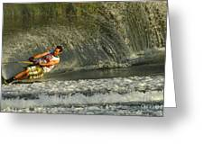 Water Skiing Magic Of Water 8 Greeting Card by Bob Christopher
