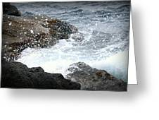 Water Splash Greeting Card by Kevin Flynn