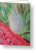 Water Watermelon Greeting Card by Aldonia Bailey