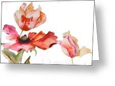 Watercolor Background Greeting Card by Regina Jershova