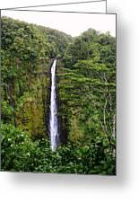 waterfall Hawai Greeting Card by Luis and Paula Lopez