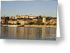 Waterfront City Greeting Card by David Buffington