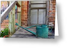 Watering Can Greeting Card by Merv Scoble