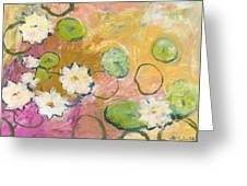 Waterlillies At Dusk Greeting Card by Jennifer Lommers