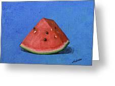 Watermelon Greeting Card by Nancy Wood