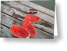Watermelon Rinds Greeting Card by Charles Weinacker