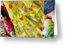 Watermelon Season Greeting Card by Rebecca Cozart