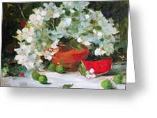Watermelon Smiles Greeting Card by Chris  Saper