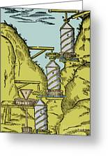 Watermill Reversed Archimedean Screw Greeting Card by Science Source