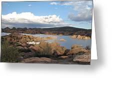 Watson Lake 2 Greeting Card by Diane  Greco-Lesser