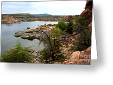 Watson Lake 2 Greeting Card by Julie Lueders