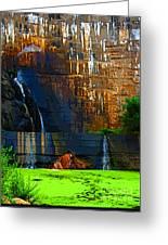 Watson Lake Waterfall Greeting Card by Julie Lueders