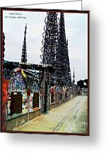 Watts Towers - Los Angeles Greeting Card by Glenn McCarthy Art and Photography