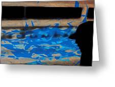 Waves - Siebdruck Kunst Silhouette Greeting Card by Arte Venezia