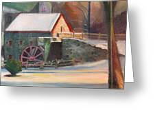 Wayside Inn Mill Greeting Card by Sid Solomon