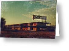 We Met at the Old Motel Greeting Card by Laurie Search