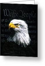 We The People Greeting Card by C S Bailey