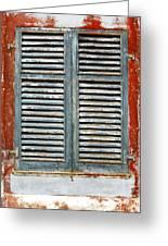 Weather-beaten Window Greeting Card by Gaspar Avila