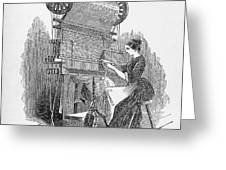 Weaving Loom Greeting Card by �science, �industry & Business Librarynew York Public Library