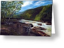 Webster Springs Stream Greeting Card by Phil Burton