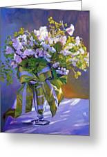 Wedding Bouquet Greeting Card by David Lloyd Glover