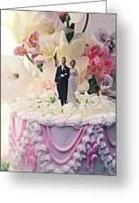 Wedding Cake Greeting Card by Garry Gay