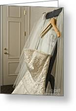 Wedding Dress Greeting Card by Ned Frisk