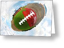 Wee Football Greeting Card by Nikki Marie Smith