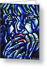 Weeping Child Greeting Card by Kamil Swiatek