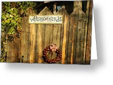 Welcome Friends Greeting Card by Steven  Michael
